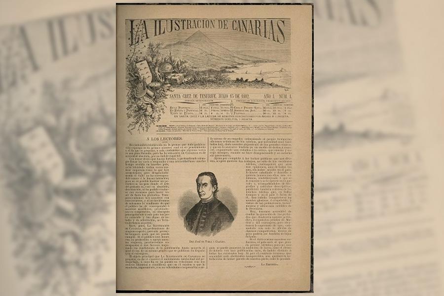 La Ilustración de Canarias, periódico literario y científico, contó con la colaboración de muchos autores y contaba con bellas ilustraciones